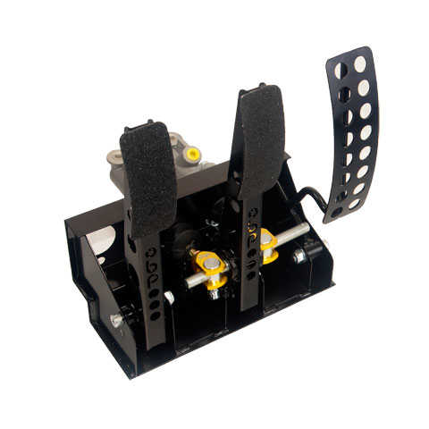 OBP Floor mounted pedal box 3 pedals 2x master cylinders (Cable Clutch)
