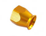 Gold PTFE hose end hat