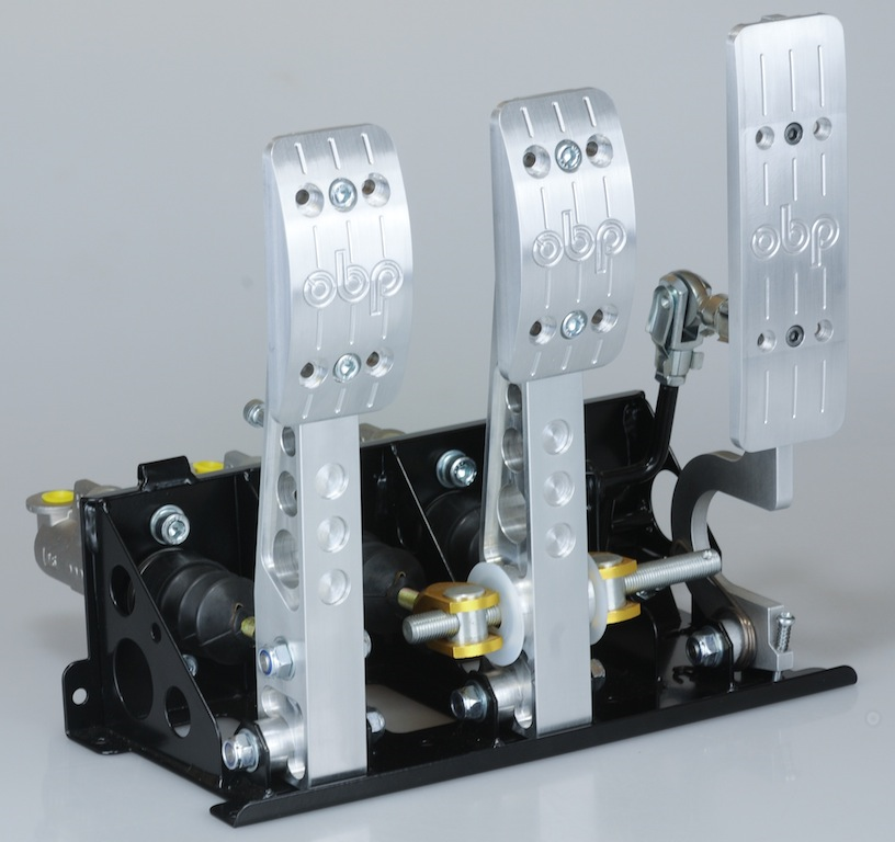 OBP Floor mounted pedal box 3 pedals 3x master cylinders PRO-Race V2